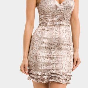 Marciano Snakeprint Corset Dress